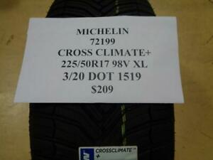 2 New Michelin Cross Climate 225 50 17 98v Tires Wo Label 72199 Q0