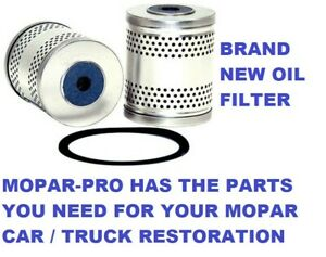 1948 1949 1950 Plymouth Flathead 6 Engine Oil Filter New Stock W Rubber Gasket