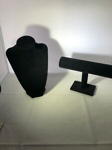 Jewelry Display Stands Color Black Preowned 2 Pieces