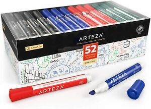 Arteza Dry Erase Markers Chisel Tip 4 Colors Set Of 52