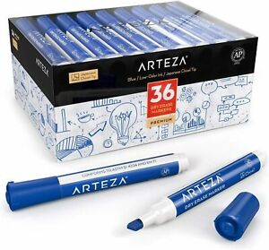 Arteza Dry Erase Markers Chisel Tip Blue Pack Of 36