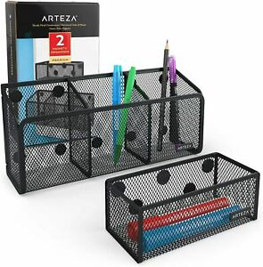 Arteza Desk Organizers Magnetic Black Mesh Set Of 2