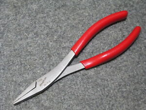 Brand New Snap On 61acp Red 8 Duck Bill Serrated Flat Needle Nose Pliers Disc