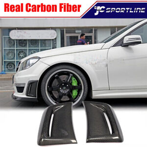 For Mercedes Benz W204 C63 Amg Fender Fin Air Intake Vent Carbon Fiber 2012 2014