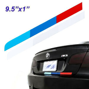 9 5 Tri Color Racing Sport Style Vinyl Stripe Sticker For Bmw M Performance