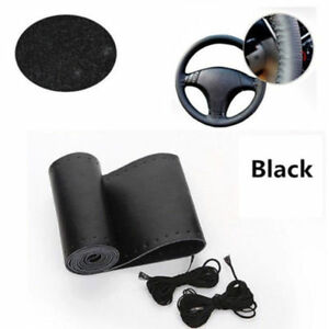 Black Leather Steering Wheel Cover Ford F150 2004 2011