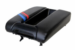 Center Console Lid Armrest Leather Cover For Bmw E39 97 03 Black M Style Stripes