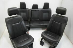 11 16 Ford F250 Leather Seats Crew Cab Black Leather Seat Set