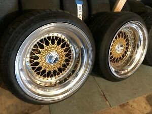 Bbs Rs 211 3 Piece Wheels Mint Condition 5x120 New Michelin S