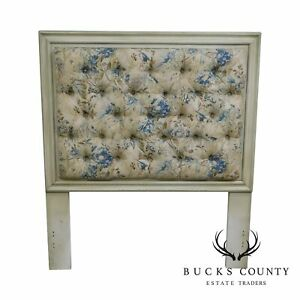 Hickory Chair Company Painted Custom Tufted Upholstered Twin Headboard