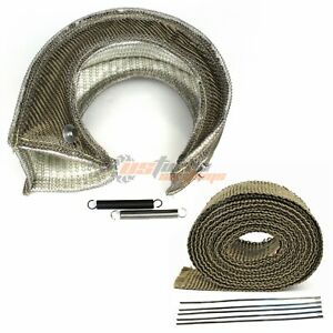 T4 Gt45 S400 Tp38 Large Turbo Heat Shield Blanket 2 50ft Exhaust Header Wrap
