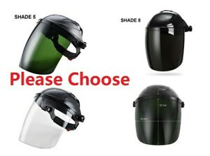 Clear Grinding Face Shield Screen Mask Eye Protection Cover Welding Helmet