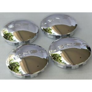 New 4x Cup 62 Mm Wheel Center Caps Cover Hub Silver Chrome For Lenso Racing