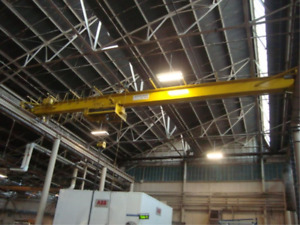 Action 10 Ton 50 Span Top Running Bridge Crane W myers Underslung Cable Hoist