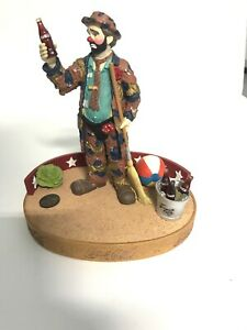 Emmett Kelly Coca Cola Limited Edition Musical Figurine 1993 Pause For A Coke
