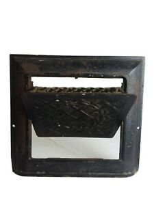 Antique Vintage Ornate Wall Grate Heat Register Vent And Damper Cast Iron