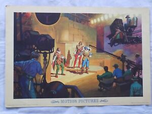 1943 Coca Cola Our America Motion Pictures Art Panel Ad Poster Coke Litho MCM
