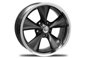 Blem Set Boyd Coddington Junkyard Dog 17x8 5x120 65 Et 12 Gunmetal Machined