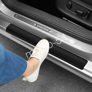 Accessories Carbon Fiber Car Scuff Plate Door Sill 5d Sticker Protector 2020 4x