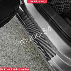 Car Stickers Carbon Fiber Rubber Door Sill Protector For Toyota Accessories 4x