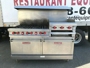 Vulcan Vg260 6 burner Restaurant Range With 24 Raised Griddle broiler And Ovens