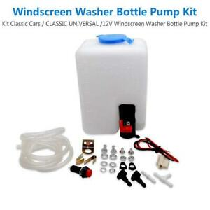 Universal Windshield Washer Tank Pump Bottle Kit For Vw Beetle Kit Classic Cars