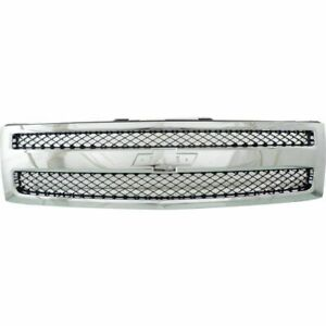 New Chrome Grille For 2007 2013 Chevrolet Silverado 1500 Gm1200572 Ships Today