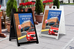 Curbside Pickup A frame Signs Free Shipping Made Usa