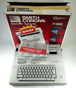 Smith Corona Dx2600 Portable Electronic Typewriter W cover Manual Bad Knob