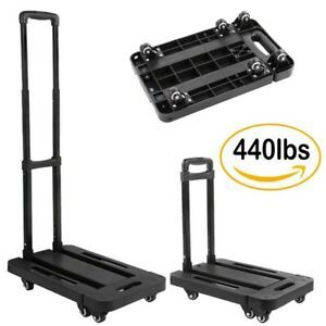 440lbs Platform Cart Dolly Folding Foldable Moving Warehouse Push Hand Truck Us