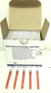 Box Of 100 Bd Blunt Fill Needle With Filter 18g X 1 5 Ref 305211 Exp 2023