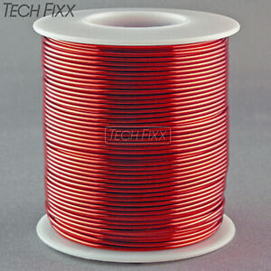 Magnet Wire 14 Gauge Awg Enameled Copper 80 Feet Coil Winding Crafts 1lb Red