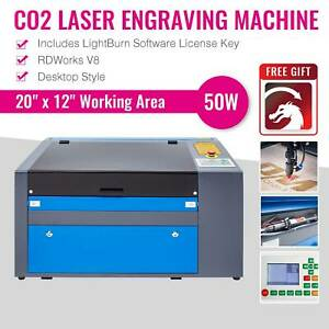 300 500mm 50w 110v Co2 Laser Engraving Cutting Machine Engraver Cutter W rotary