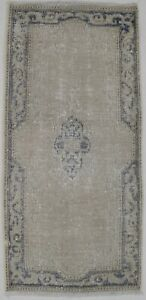 Muted Antique Small Entryway 2x4 Hand Knotted Distressed Oriental Rug Carpet