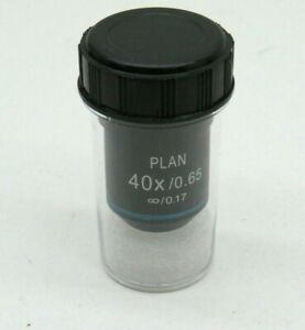 Fisher Scientific Ampf op040 Microscope Objective Lens Plan 40x 0 65 0 17
