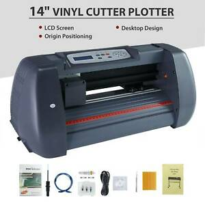 14 vinyl Cutter Plotter Sign Cutting Machine W software supplies Lcd Screen