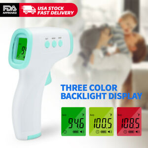 Infrared Thermometer Digital Led Forehead No touch Body Adult Temperature Us