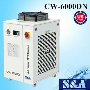 Usa 110v S a Cw 6000dn Industrial Water Chiller For 30w 300w Fiber Laser Cooling