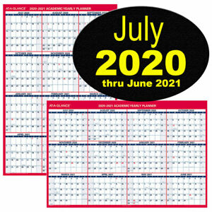 At a glance Pm36ap 28 2020 2021 Academic Yearly Planner Dry Erase 32 X 48