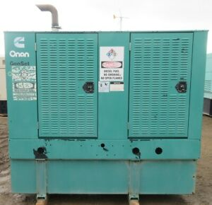 35 Kw Cummins Onan Diesel Generator 3 9l Engine 12 Lead 331 Total Hours