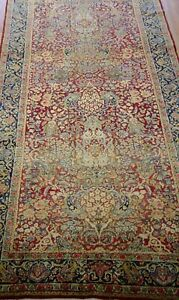 Exceptional Runner Floral Antique 1880 S Hand Made Wool Oriental Rug 4 X14 7