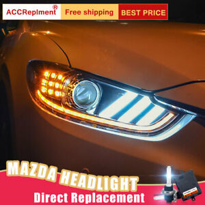 For Mazda 6 Atenza Headlights Assembly Bi Xenon Lens Projector Led Drl 2014 2016