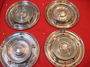 Set Of 4 1958 14 Oldsmobile Hubcaps