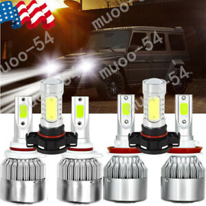 Cree Led Headlight Kit Hi lo Beam H11 9005 5202 For Chevy Suburban Tahoe 07 2014