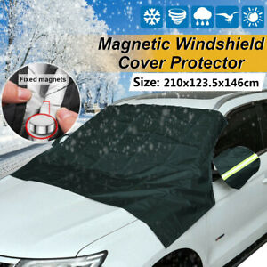 Magnet Car Windshield Snow Cover Sunshade Winter Ice Frost Mirror Guard