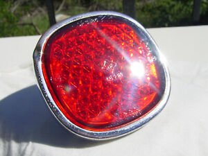 Rare Original 54 60 Borgward Isabella Rear Red Glass Reflector W Mounting Hw