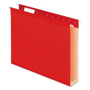 Extra Capacity Reinforced Hanging File Folders With Box Bottom Letter Size