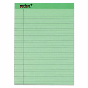Prism Colored Writing Pad Wide legal Rule 8 5 X 11 75 Green 50 Sheets
