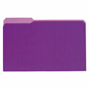 Interior File Folders 1 3 cut Tabs Legal Size Violet 100 box