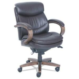 Woodbury Mid back Executive Chair Supports Up To 300 Lbs Brown Seat brown